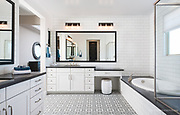 Master bath photograph of residential interior design