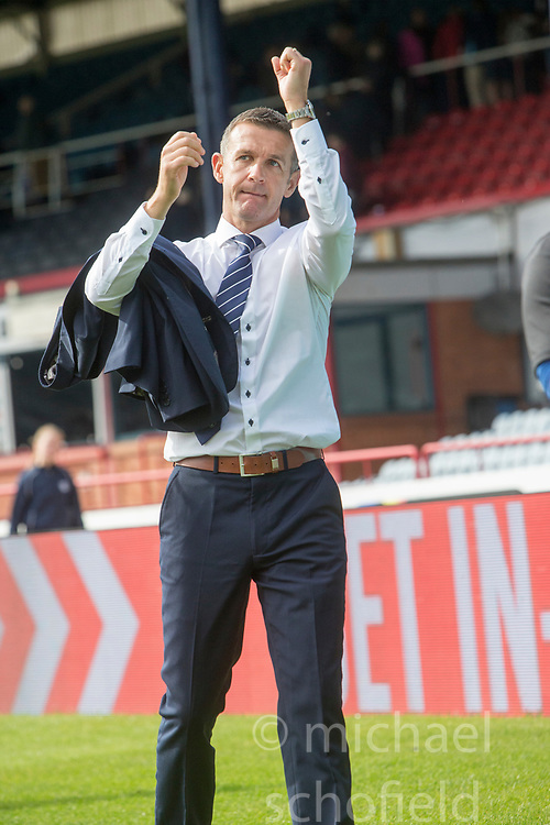 Ross County's manager Jim McIntrye at the end. Dundee 1 v 2 Ross County, Scottish Premiership game played 5/8/2017 at Dundee's home ground Dens Park.