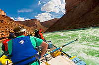 Whitewater rafting, Soap Creek Rapid, Marble Canyon, Grand Canyon National Park, Arizona USA