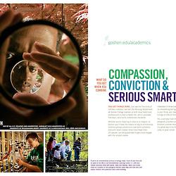 Viewbook for Goshen College, Goshen, Ind. Design by Mindpower, Inc. (www.mindpowerinc.com)
