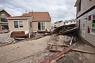 Damage in Ortley Beach New Jersey following Hurricane Sandy.