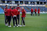 Sunderland players arrive at Adams Park during the EFL Sky Bet League 1 match between Wycombe Wanderers and Sunderland at Adams Park, High Wycombe, England on 19 October 2019.
