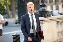 © Licensed to London News Pictures. 25/07/2019. London, UK. Newly appointed Business Secretary Jo Johnson arrives at The Cabinet Office in Whitehall. The Conservative Party has elected Boris Johnson as their new leader and Prime Minister, following Theresa May's resignation. Photo credit: Peter Macdiarmid/LNP