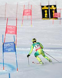 14.02.2013, Reiteralm, Pichl-Preunegg, Schladming, AUT, FIS Weltmeisterschaften Ski Alpin, Qualifikation Riesenslalom,  Herren, 1. Durchgang, im Bild Michael Elliott Williams (JAM) // Michael Elliott Williams of Jamaica in action during 1st run of mens Giant Slalom Qualification Race at the FIS Ski World Championships 2013 at the Reiteralm Course, Pichl-Preunegg, Schladming, Austria on 2013/02/14. EXPA Pictures © 2013, PhotoCredit: EXPA/ Martin Huber
