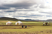 Mongolian dwellings, Gers Photographed in Mongolia