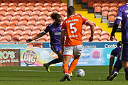 Goal scored by Marcus Harness of Portsmouth during the EFL Sky Bet League 1 match between Blackpool and Portsmouth at Bloomfield Road, Blackpool, England on 31 August 2019.