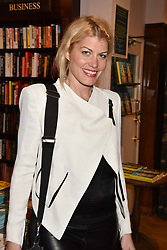 Meredith Ostrom at a party to celebrate the publication of Saving The World by Paola Diana at Daunt Books, Marylebone, London England. 2 May 2018.