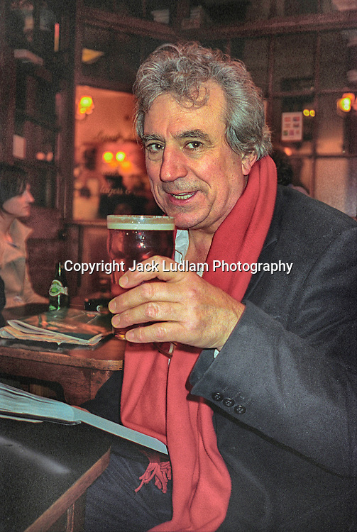 Terry Jones Having a Pint in Sohos Coach And Horses
