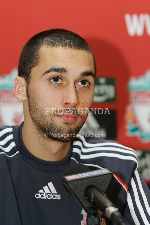 Liverpool, England - Thursday, February 1, 2007: Liverpool FC's new signing Alvaro Arbeloa, who joined from Spanish side Deportivo Le Coruna. (Pic by David Rawcliffe/Propaganda)
