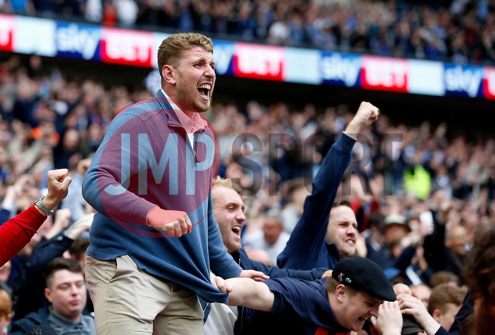 Millwall fans celebrate - Mandatory by-line: Matt McNulty/JMP - 20/05/2017 - FOOTBALL - Wembley Stadium - London, England - Bradford City v Millwall - Sky Bet League One Play-off Final
