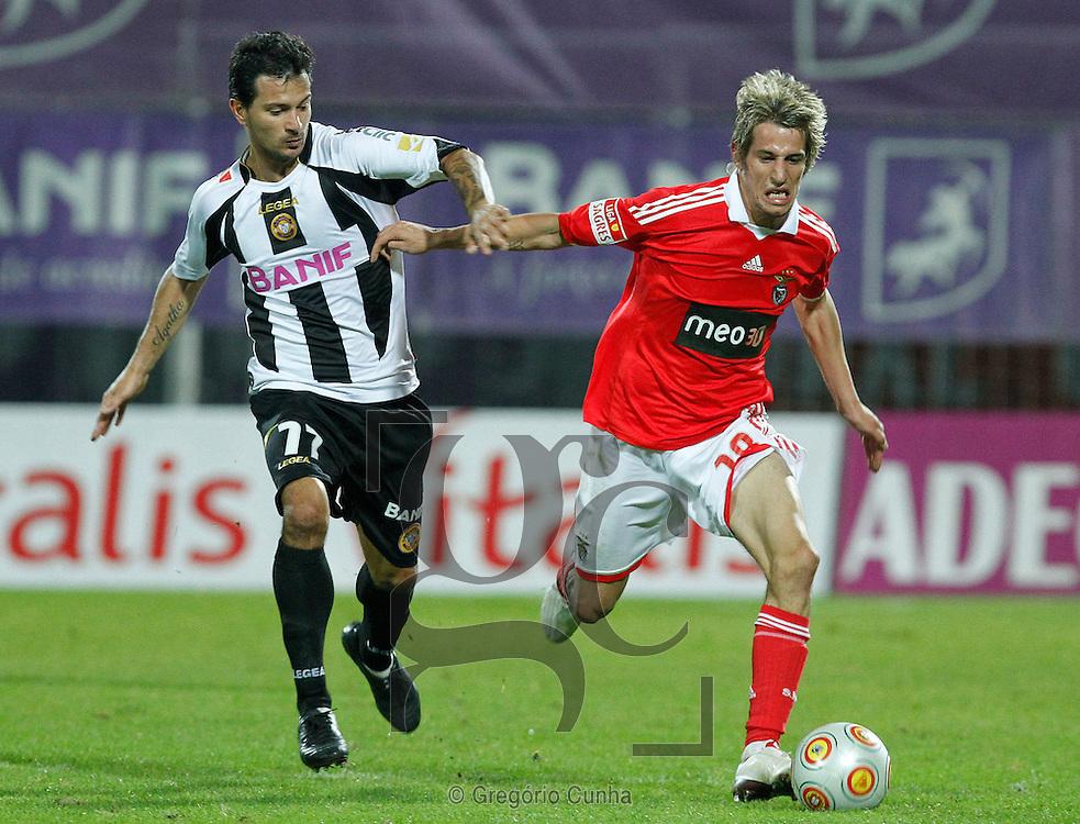 Liga Portuguesa de Futebol, Estadio da Madeira.Nacional vs Benfica.Gentile e FAbio Coentrao.Foto Gregorio Cunha