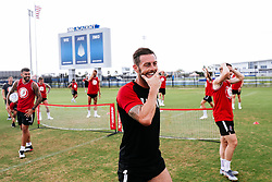 Bristol City Assistant Head Coach Jamie McAllister during a head tennis session in the afternoon of day 5 - Rogan/JMP - 15/07/2019 - IMG Academy, Bradenton - Florida, USA - Bristol City Pre-Season Tour Day 5.