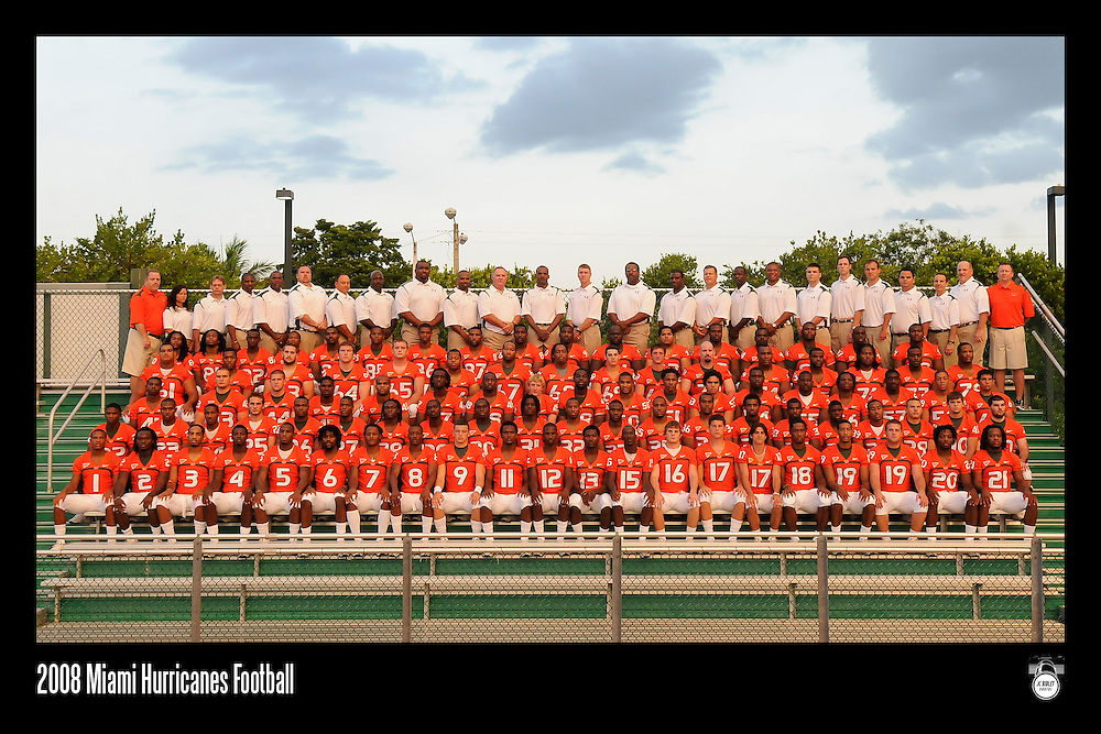 2008 University of Miami Football Photo Day