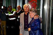 AMSTERDAM - In de DeLaMar theater is de premiere van de musical Baantjer. Met hier op de foto  Klaas Wilting met zijn partner Gerda. FOTO LEVIN DEN BOER - PERSFOTO.NU