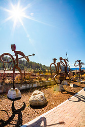 """Downtown Truckee 69"" - Photograph of musician sculptures in Downtown Truckee, California."