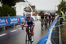 Chiara Consonni (ITA) with three laps to go at Ladies Tour of Norway 2018 Stage 2, a 127.7 km road race from Fredrikstad to Sarpsborg, Norway on August 18, 2018. Photo by Sean Robinson/velofocus.com