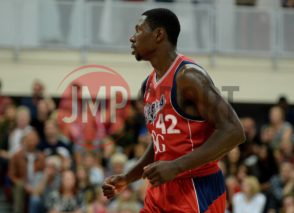 Daniel Edozie of Bristol Flyers - Photo mandatory by-line: Dougie Allward/JMP - 17/09/2016 - BASKETBALL - SGS Wise Arena - Bristol, England - Bristol Flyers v Worcester Wolves - Exhibition Game