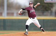 April 14, 2018: The Newman University Jets play against the Oklahoma Christian University Eagles at Dobson Field on the campus of Oklahoma Christian University.