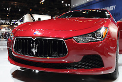 11 February 2016: Maserati .<br /> <br /> First staged in 1901, the Chicago Auto Show is the largest auto show in North America and has been held more times than any other auto exposition on the continent.  It has been  presented by the Chicago Automobile Trade Association (CATA) since 1935.  It is held at McCormick Place, Chicago Illinois<br /> #CAS16