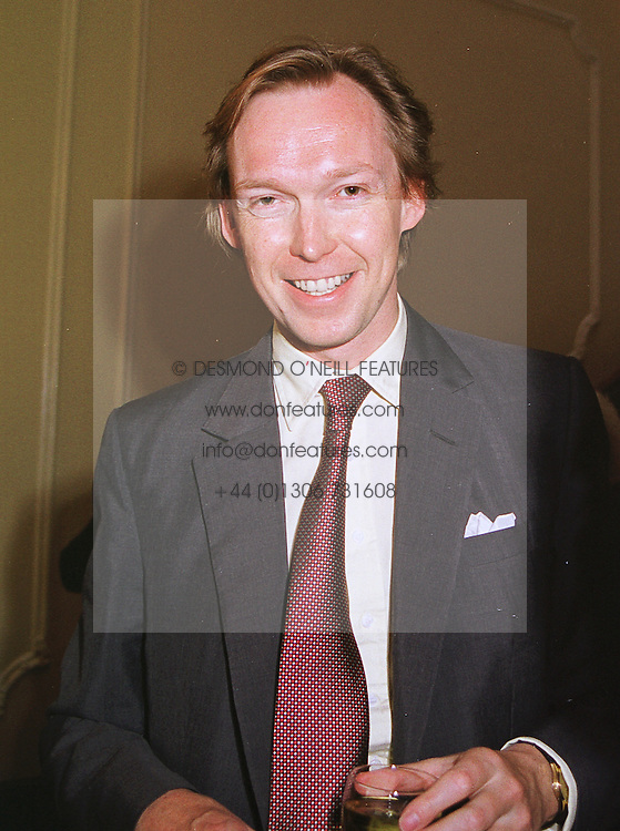 The HON.JAMES STOURTON  at a party in London on 17th June 1999. MTK 25
