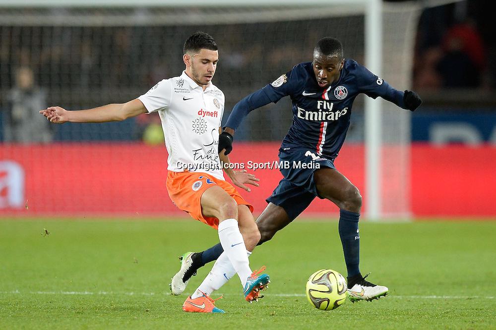 Morgan SANSON / Blaise MATUIDI - 20.12.2014 - Paris Saint Germain / Montpellier - 17eme journee de Ligue 1 -<br />Photo : Aurelien Meunier / Icon Sport