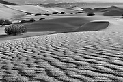 Ripples in the sand and sand dunes on the floor of Death Valley