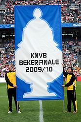 25-04-2010 VOETBAL: AJAX - FEYENOORD: AMSTERDAM<br /> De eerste wedstrijd in de bekerfinale is gewonnen door Ajax met 2-0 / Bekerfinale banner vlag<br /> ©2009-WWW.FOTOHOOGENDOORN.NL