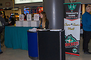 KELOWNA, CANADA - FEBRUARY 07:  Promotions at the Kelowna Rockets game on February 07, 2018 at Prospera Place in Kelowna, British Columbia, Canada.  (Photo By Cindy Rogers/Nyasa Photography,  *** Local Caption ***