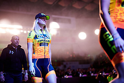 Karlijn Swinkels (NED) makes her way to the stage at Tour of Chongming Island 2018 Team Presentation, at Chongming District Gymnasium on April 25, 2018. Photo by Sean Robinson/Velofocus.com