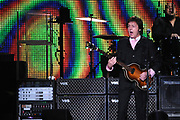 Paul McCartney (67) live in Concert at the Gelredome in Arnhem as a part of the Good Evening Europe tour .After 6 six the Ex-Beatle was in the Netherlands again.