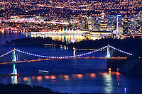 Lions Gate Bridge & Canada Place, Burrard Inlet, Vancouver