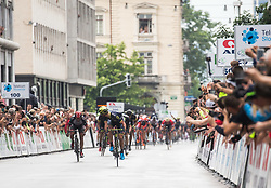 Winner Luka Mezgec (SLO) of Orica - Scott looking back at finish line during Stage 2 of 24th Tour of Slovenia 2017 / Tour de Slovenie from Ljubljana to Ljubljana (169,9 km) cycling race on June 16, 2017 in Slovenia. Photo by Vid Ponikvar / Sportida