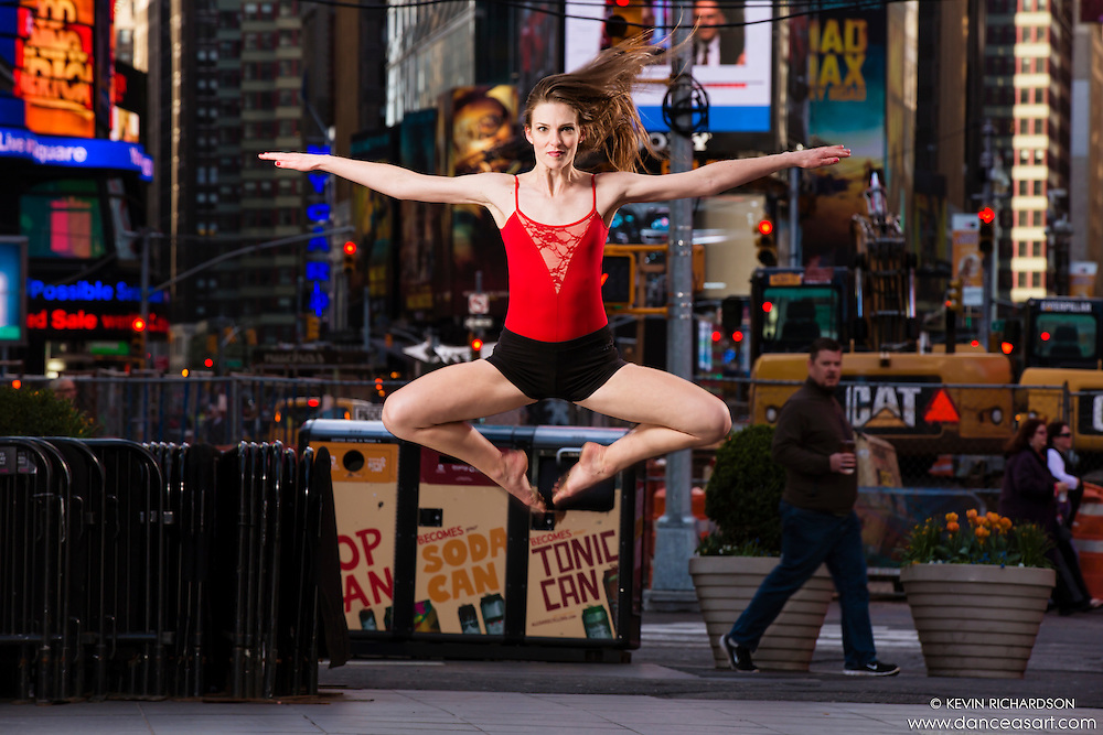 Times Square New York City Dance As Art Photography Project with dancer Megganne Smits