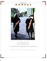 Saver magazine, back page, moments-baguettes and old friends