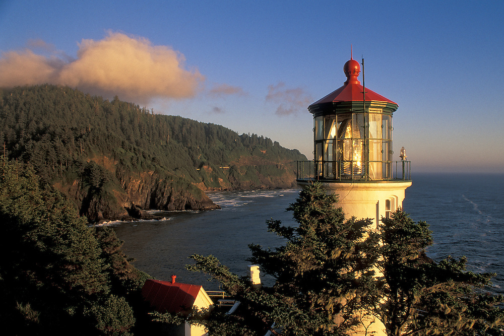 Heceta Head Lighthouse on the Oregon coast.