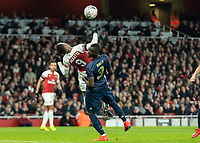 Football - 2018 / 2019 FA Cup - Fourth Round: Arsenal vs. Manchester United <br /> <br /> Weak appeals for a penalty as Alexandre Lacazette (Arsenal FC) believes he is fouled by Eric Bailly (Manchester United)<br /> at The Emirates Stadium.<br /> <br /> COLORSPORT/DANIEL BEARHAM