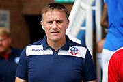 Bolton Manager Phil Parkinson  before the Pre-Season Friendly match between Peterborough United and Bolton Wanderers at London Road, Peterborough, England on 28 July 2018. Picture by Nigel Cole.