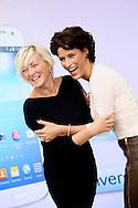 AMSTERDAM - In The Oyster Club aan het Olympisch Stadion te Amsterdam hield het lifestylemagazine TALKIES een Lifestyle Lunch. Diversen bekende Nederlanders waren hierbij uitgenodigd. Met op de foto Lone van Roosendaal en Kristina Bozilovic. FOTO LEVIN DEN BOER - PERSFOTO.NU