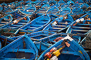 Morocco Essaouira, Blue Fishing Boats