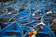 Morocco Essaouira, Blue Fishing Boats