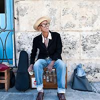 Musician in old Havana, Cuba
