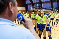 during the handball match between RK Krim Mercator and ZRK Z'Dezele Celje in Last Round of Slovenian National Championship 2017/18, on May 16, 2017 in Dvorana Galjevica, Ljubljana, Slovenia. Photo by Matic Klansek Velej / Sportida