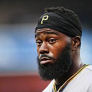 NEW YORK, NEW YORK - June 16: Josh Harrison #5 of the Pittsburgh Pirates during the Pittsburgh Pirates Vs New York Mets regular season MLB game at Citi Field on June 16, 2016 in New York City. (Photo by Tim Clayton/Corbis via Getty Images)