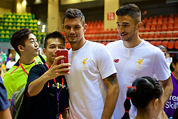 HONG KONG, CHINA - Tuesday, July 18, 2017: Liverpool's Dejan Lovren poses for a selfie during a Premier League skills kids event at the Macpherson Stadium ahead of the Premier League Asia Trophy 2017. (Pic by David Rawcliffe/Propaganda)