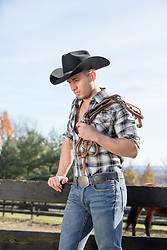 sexy cowboy on a ranch
