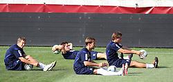 03.08.2011, Generali Arena, Wien, AUT, UEFA EL, Abschlusstraining FK Austria Wien, im Bild Florian Klein, (FK Austria Wien, #7), Manuel Ortlechner, (FK Austria Wien, #14), Marko Stankovic, (FK Austria Wien, #19) und Roland Linz, (FK Austria Wien, #9) ,  EXPA Pictures © 2011, PhotoCredit: EXPA/ T. Haumer / Sportida Photo Agency