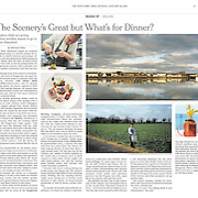 "Tearsheet of ""Waterford food scene"" published in The New York Times"