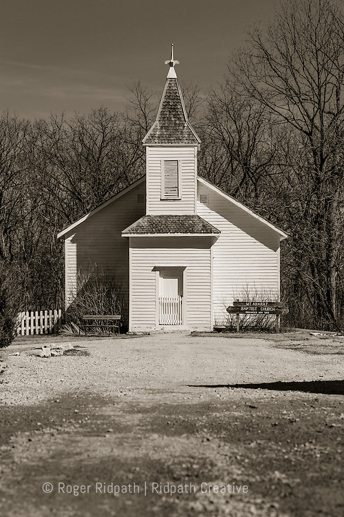 ararat baptist church black & white - shoal creek living history museum