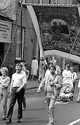 Durham Mechanics banner. NUM Centenary Demonstration and Gala, Barnsley.