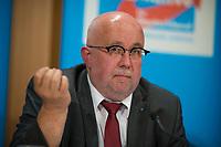 DEU, Deutschland, Germany, Berlin, 04.06.2018: Jürgen Pohl (MdB, AfD), Pressekonferenz der Partei Alternative für Deutschland (AfD) zur Vorstellung des Rentenkonzepts der AfD-Fraktion im Thüringer Landtag.
